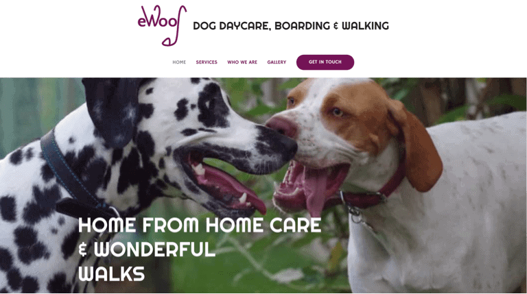 eWoof Home Page