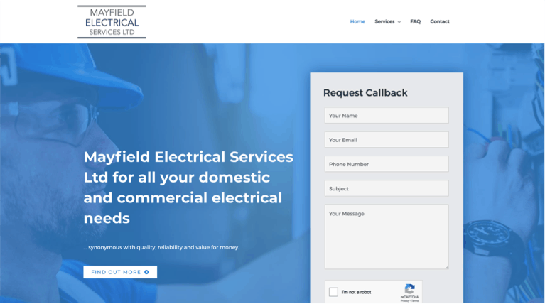 Mayfield Electrical Services Home Page