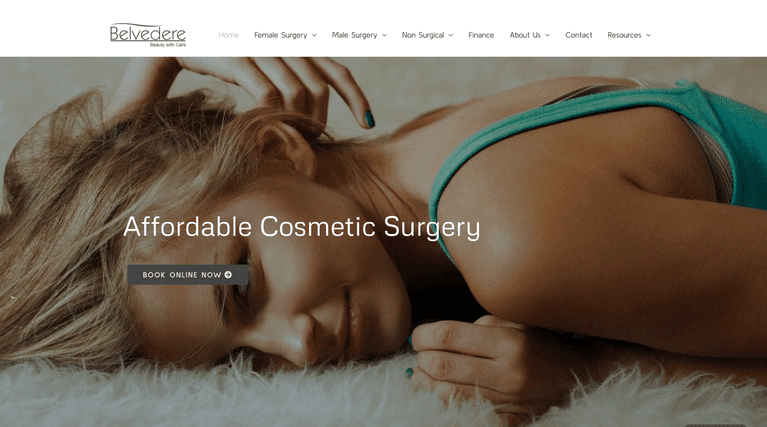 The Belvedere Clinic - website built by Beknowin