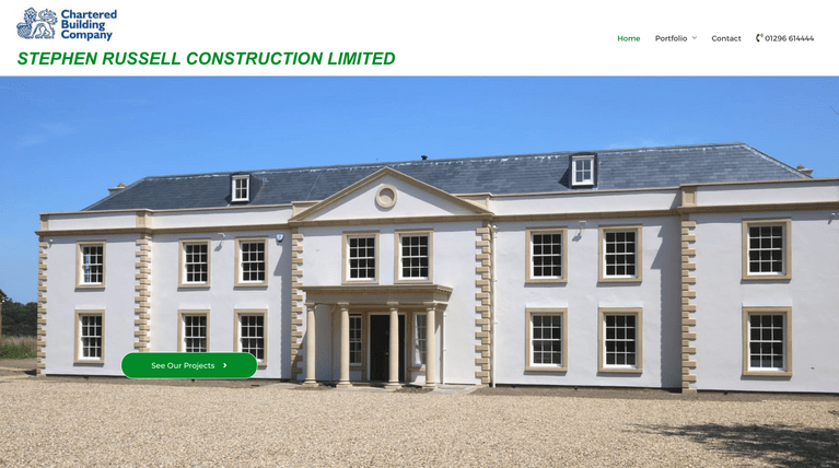 Stephen Russell Construction Limited - website built by Beknowin